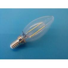 E14 sijalka LED filament svečka 4W topla bela svetloba, 2700 K