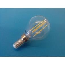 E14 sijalka LED filament mini bučka 2W topla bela svetloba, 2700 K